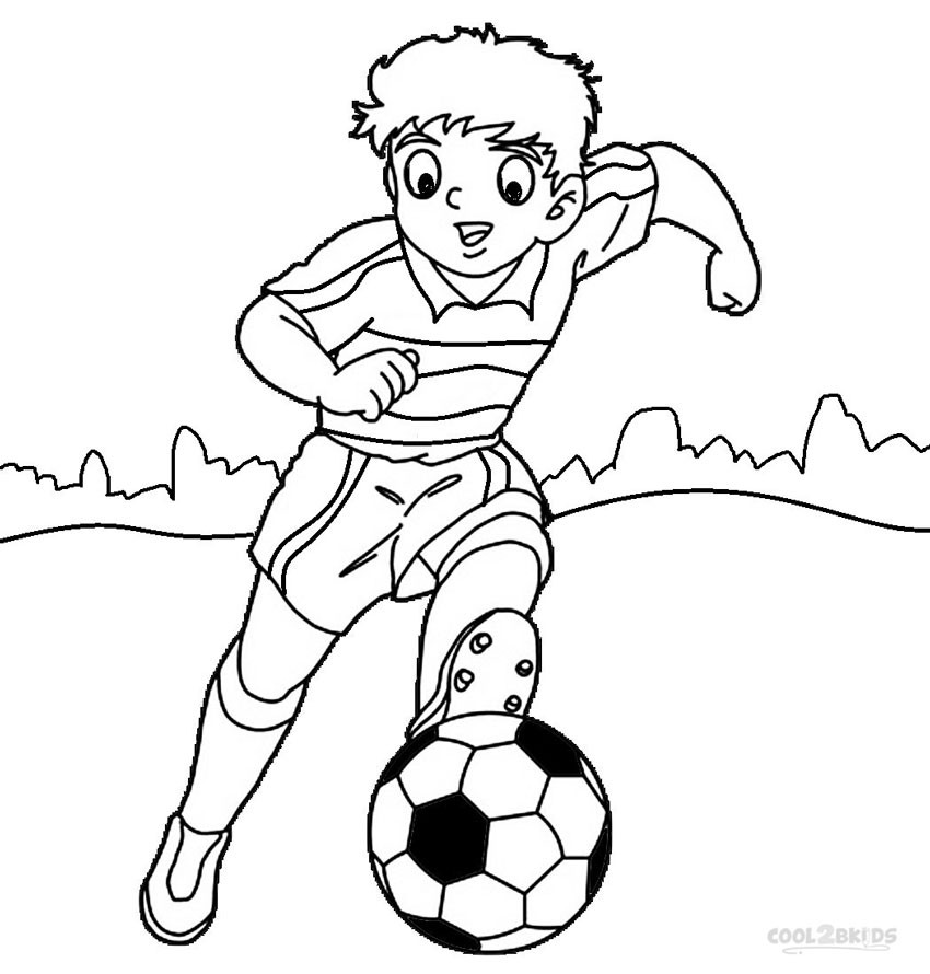 Soccer Coloring Pages For Boys  Coloring Pages For Boys Football Players – Color Bros