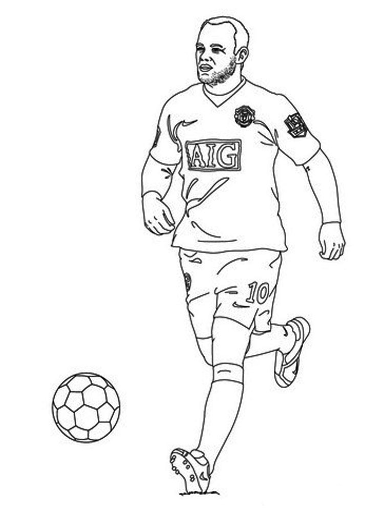 Soccer Coloring Pages For Boys  Soccer Player coloring pages Free Printable Soccer Player