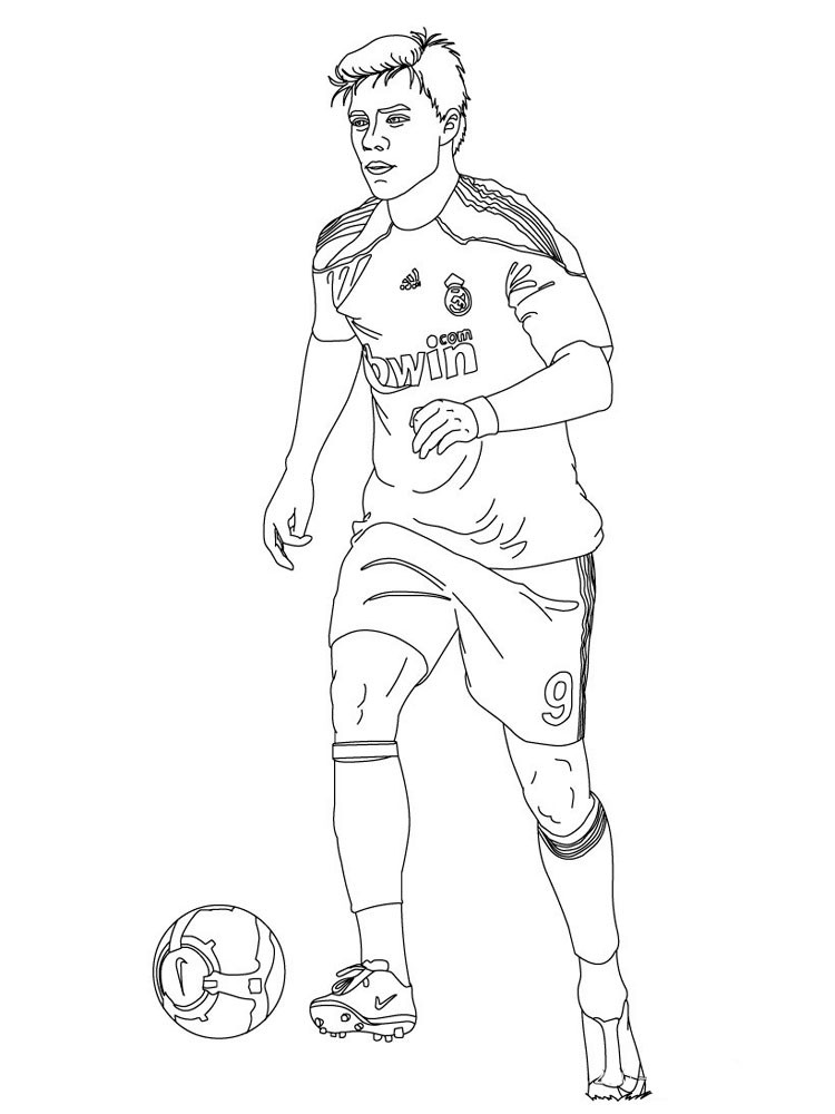 Soccer Coloring Pages For Boys  Player Ball Soccer Coloring Pages For Boys Player Best