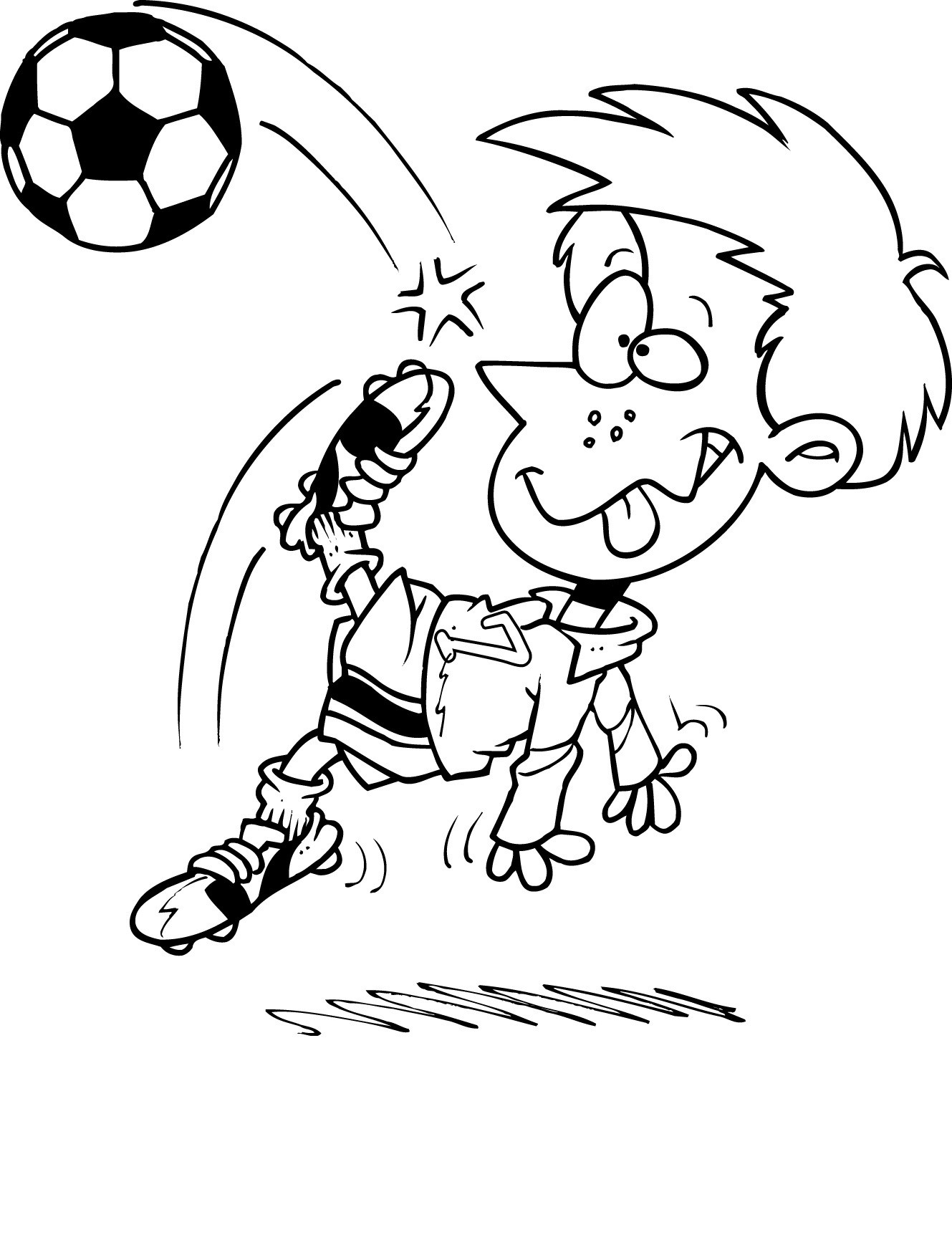 Soccer Coloring Pages For Kids  Free Printable Soccer Coloring Pages For Kids
