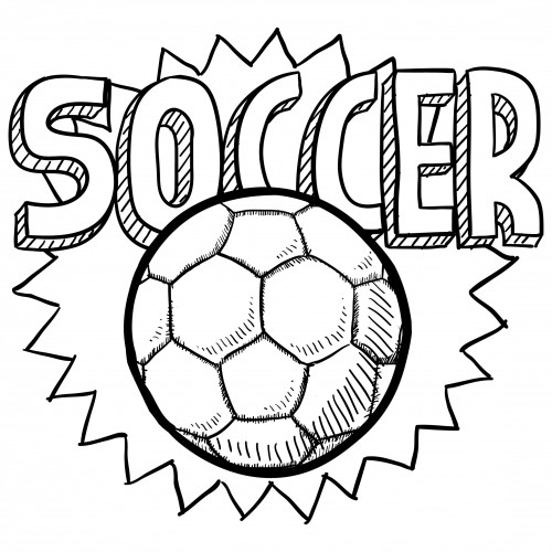 Soccer Coloring Pages For Kids  Soccer Ball Coloring Page For Kids KidsPressMagazine