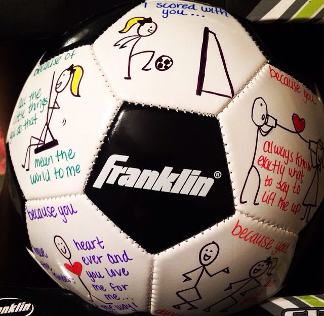 "Soccer Gift Ideas For Boyfriend  My version of ""why you re a great catch"" ""I scored with"