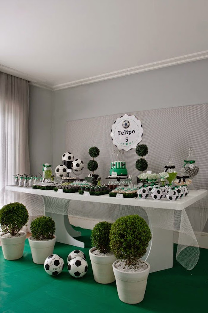 Best ideas about Soccer Theme Birthday Party . Save or Pin Kara s Party Ideas World Cup Soccer themed birthday party Now.