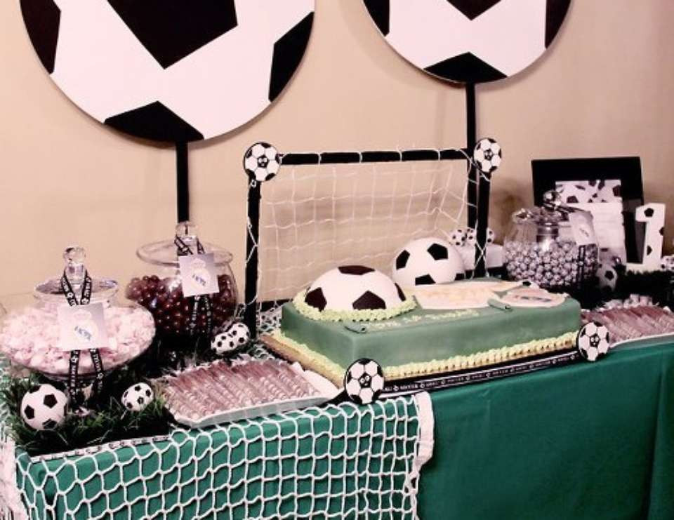 "Best ideas about Soccer Theme Birthday Party . Save or Pin Soccer Birthday ""Soccer themed 1st birthday"" Now."