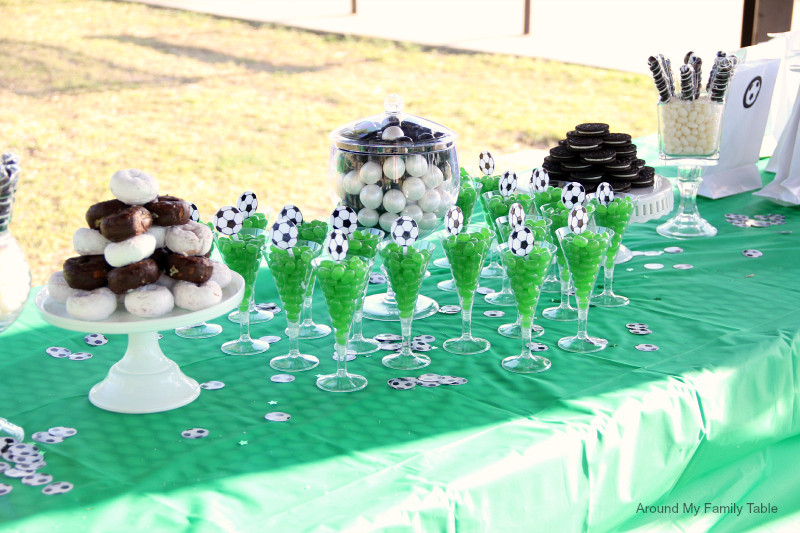 Best ideas about Soccer Theme Birthday Party . Save or Pin Soccer Theme Party Ideas Around My Family Table Now.