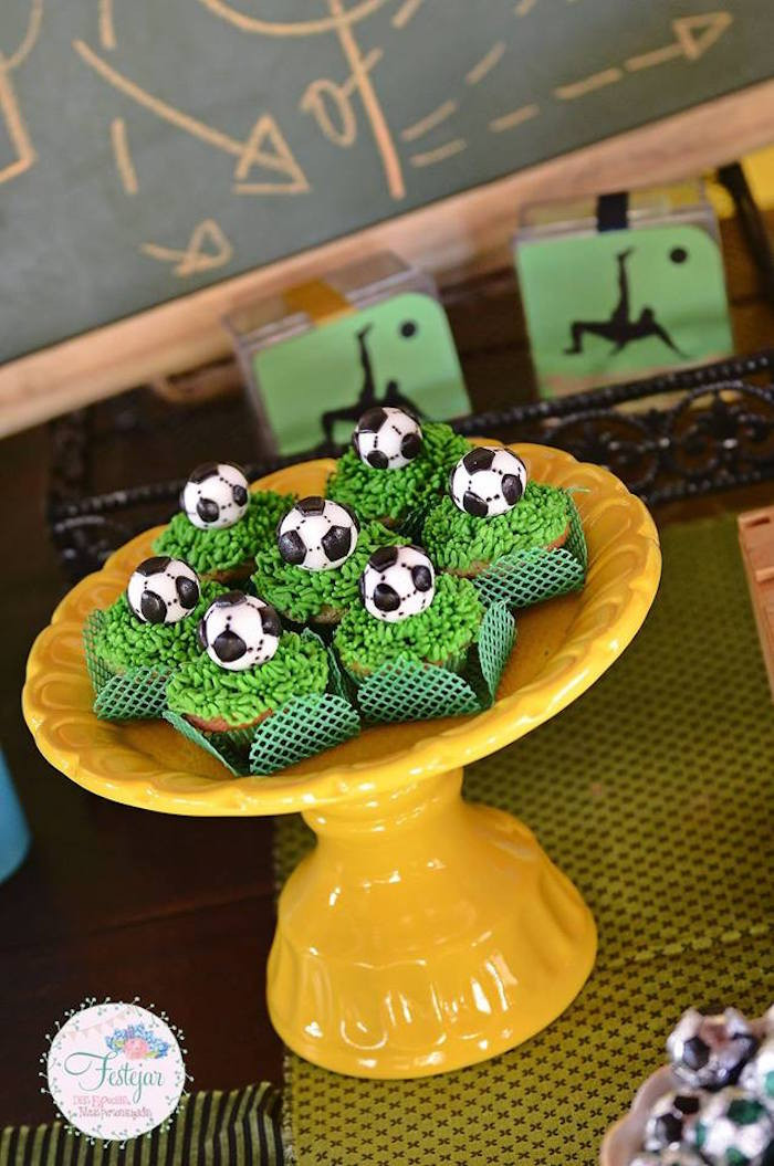 Best ideas about Soccer Theme Birthday Party . Save or Pin Kara s Party Ideas Futbol Birthday Party Now.