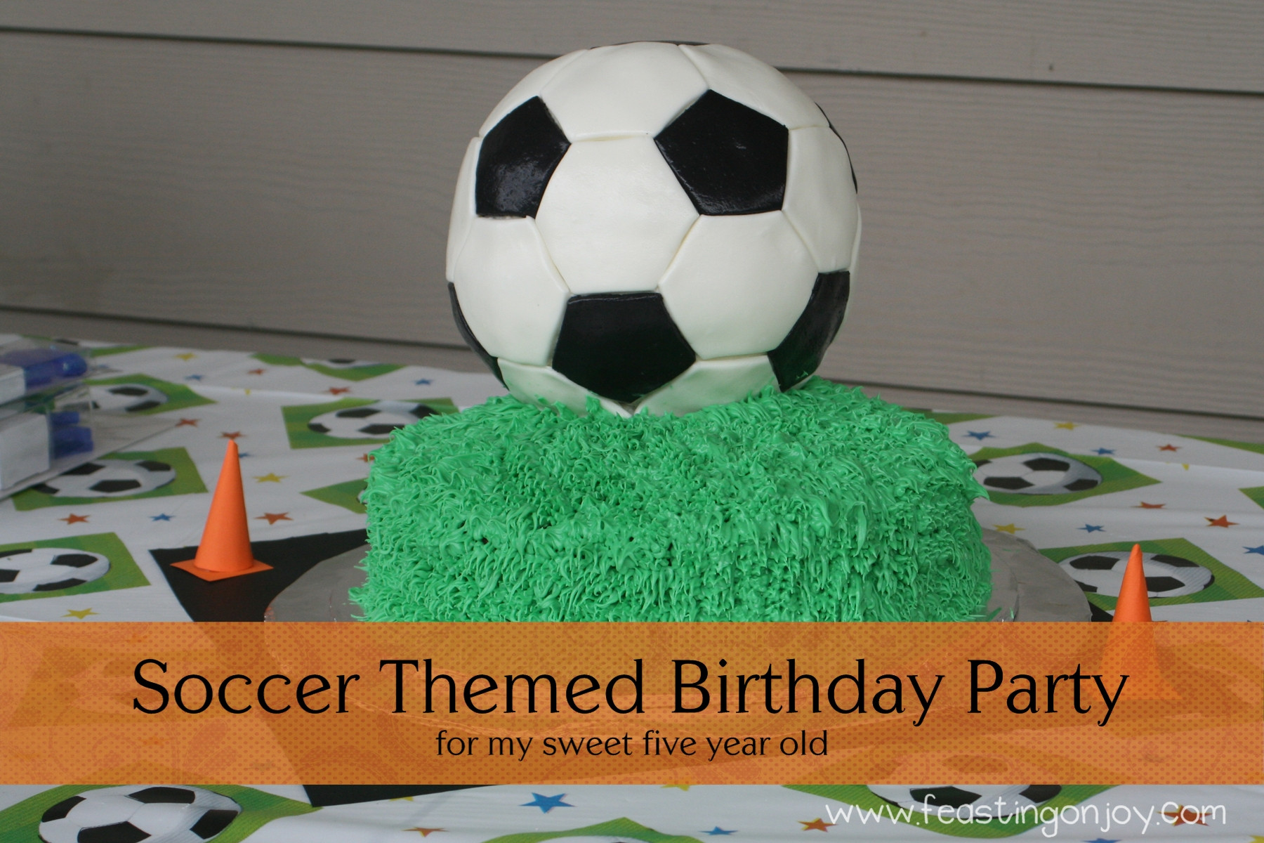 Best ideas about Soccer Theme Birthday Party . Save or Pin Soccer Themed Birthday Party Feasting Joy Now.