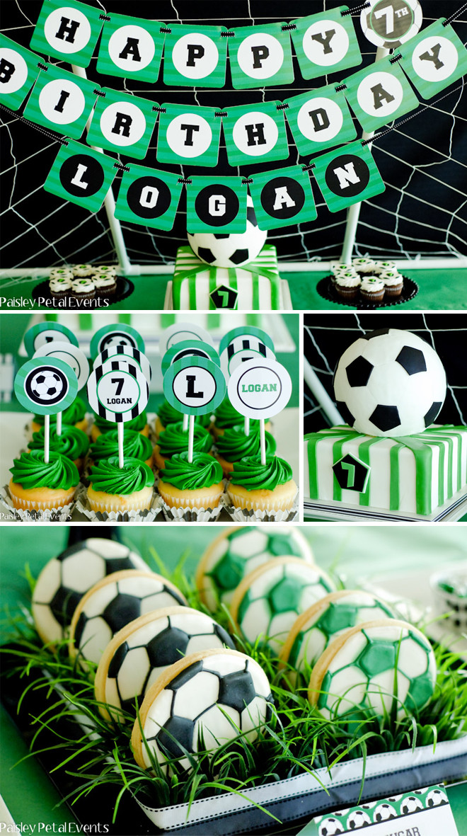 Best ideas about Soccer Theme Birthday Party . Save or Pin SUPER SOCCER BIRTHDAY PARTY Now.