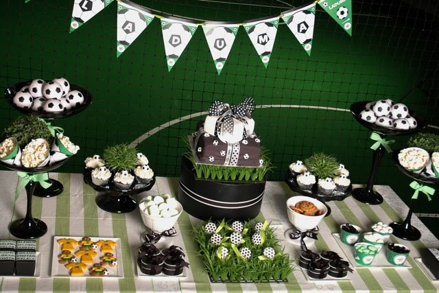 Best ideas about Soccer Theme Birthday Party . Save or Pin Parties Decor & More Soccer Themed Birthday Party Now.