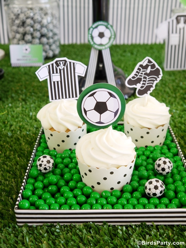 Best ideas about Soccer Theme Birthday Party . Save or Pin Soccer Football Birthday Party Desserts Table & Printables Now.