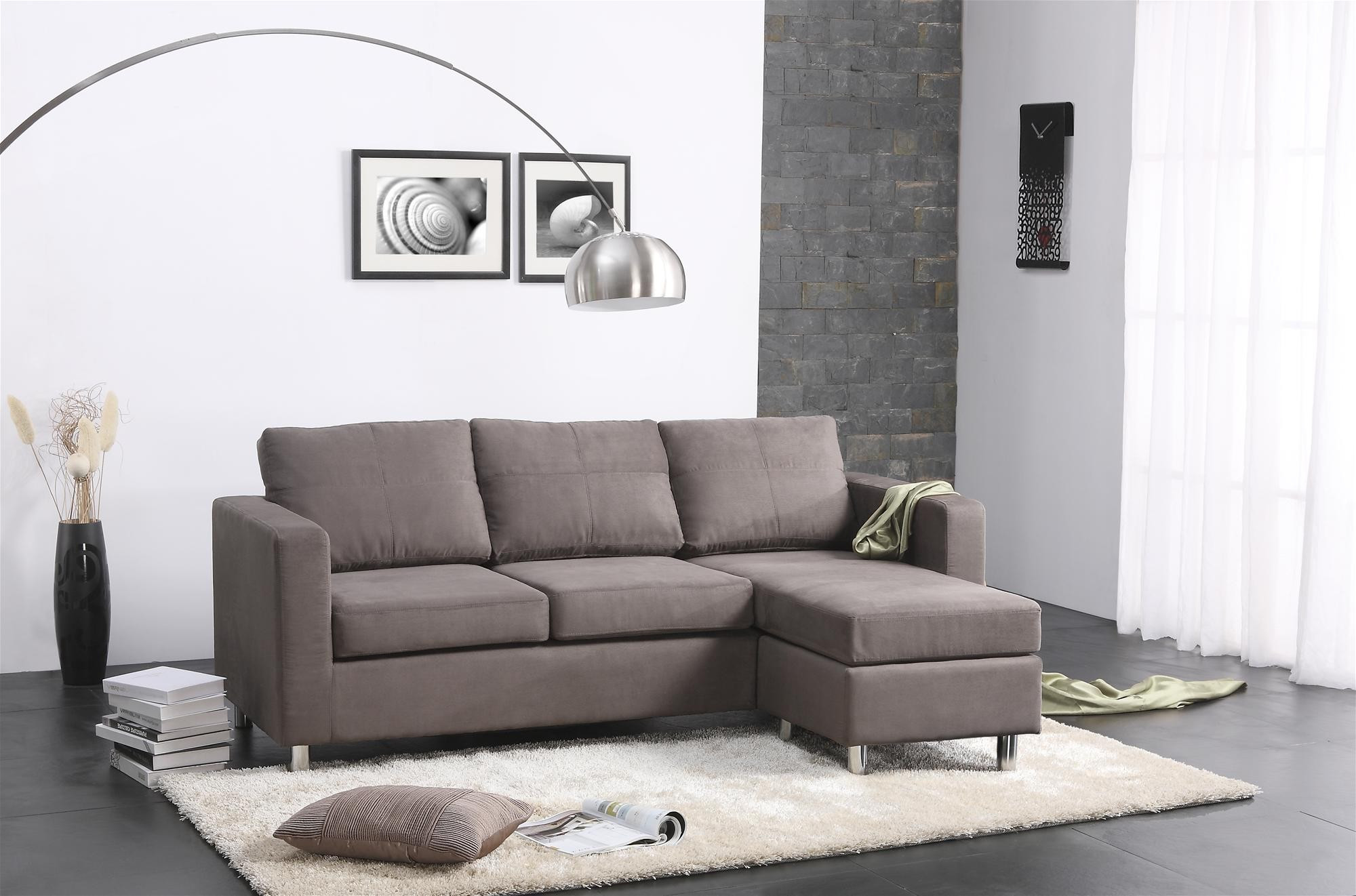 Best ideas about Sofa Bed Sectional . Save or Pin Living Room Leather And Wood Small Sectional Sofa Bed Now.
