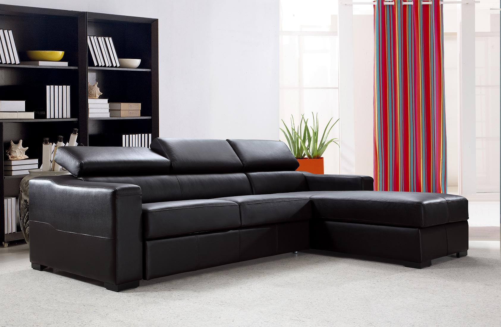 Best ideas about Sofa Bed Sectional . Save or Pin Flip Reversible Espresso Leather Sectional Sofa Bed w Storage Now.