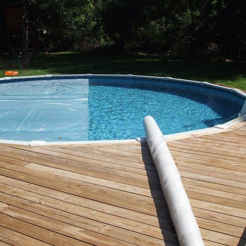 Best ideas about Solar Covers For Inground Pool . Save or Pin SOLAR ROLLER Freeform Pool Cover Remover Rolls Solar Now.