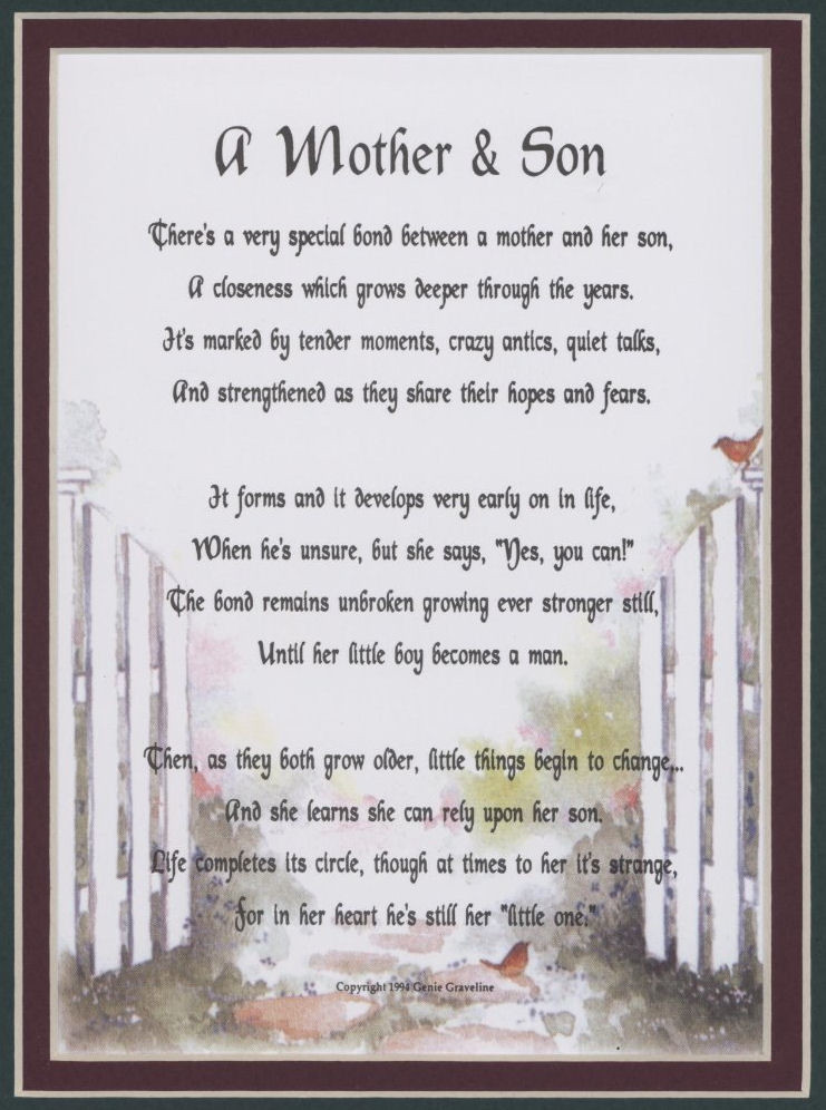 Son Birthday Quotes From Mom  Mother And Grown Son Quotes QuotesGram