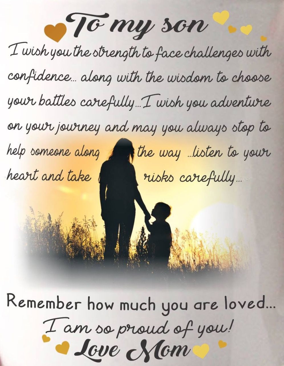 Son Birthday Quotes From Mom  Love my son mother son bond