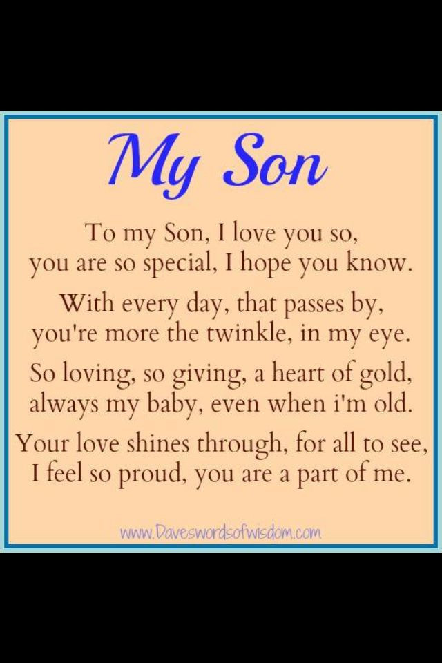 Son Birthday Quotes From Mom  18 Birthday Quotes For Son QuotesGram