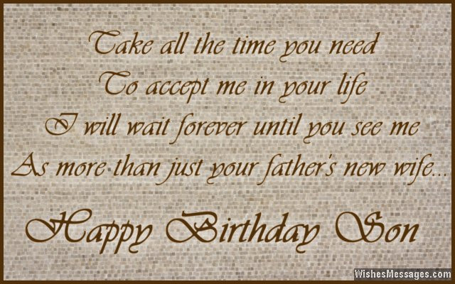 Son Birthday Quotes From Mom  Birthday Wishes for Stepson – WishesMessages