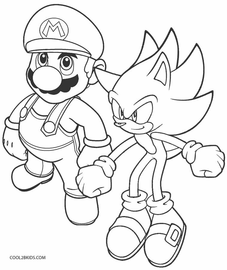 Sonic The Hedgehog Coloring Pages  Printable Sonic Coloring Pages For Kids