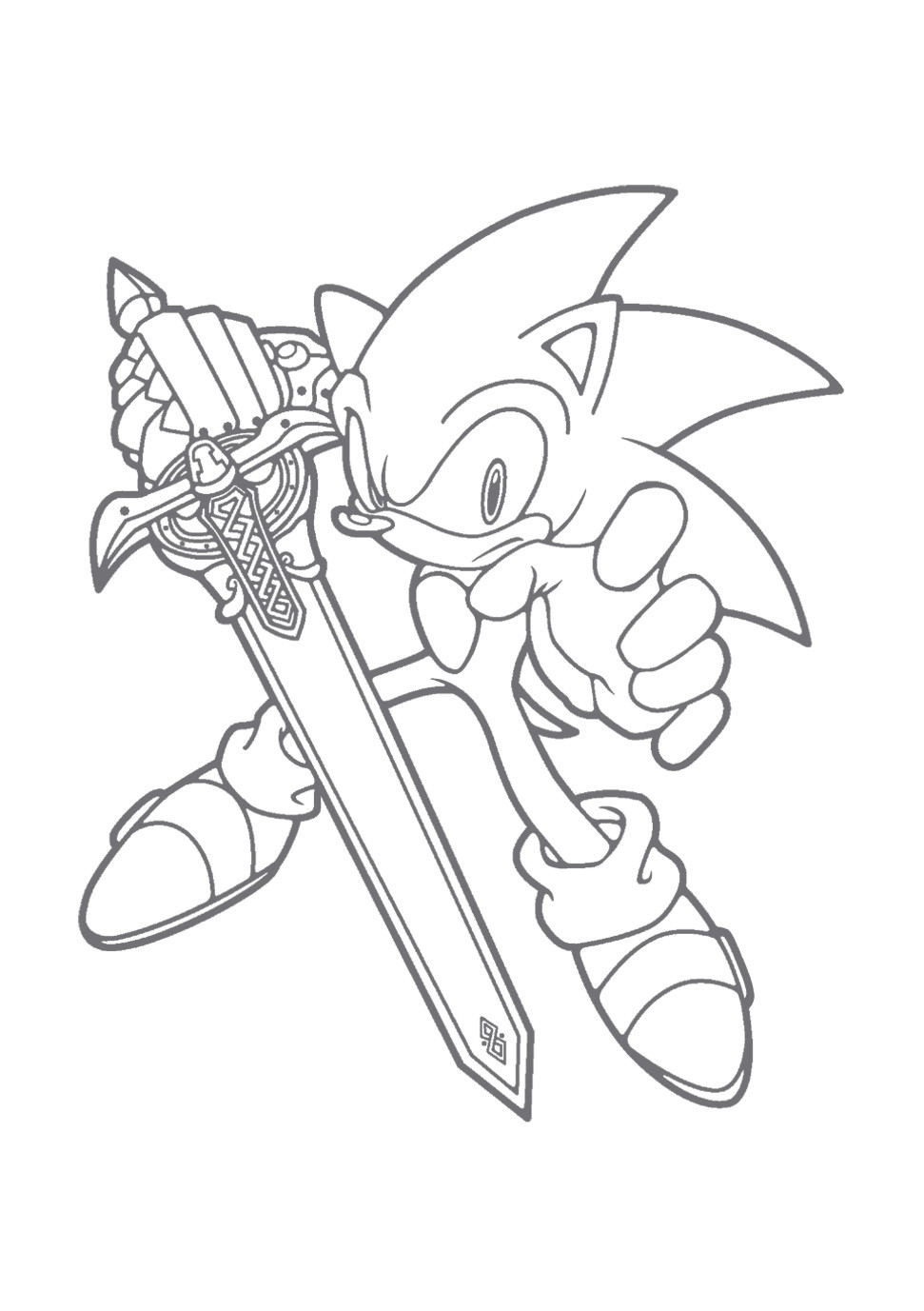 Sonic The Hedgehog Coloring Pages  Free Printable Sonic The Hedgehog Coloring Pages For Kids