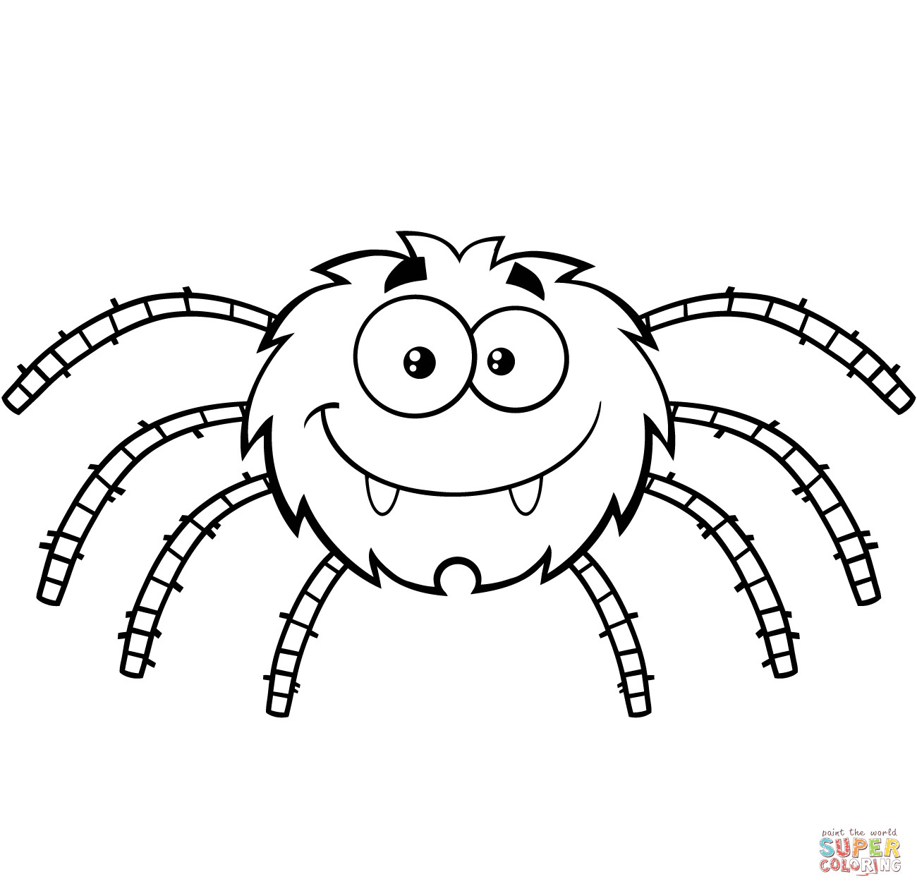 Spider Coloring Pages For Kids  Halloween Spider Coloring Pages