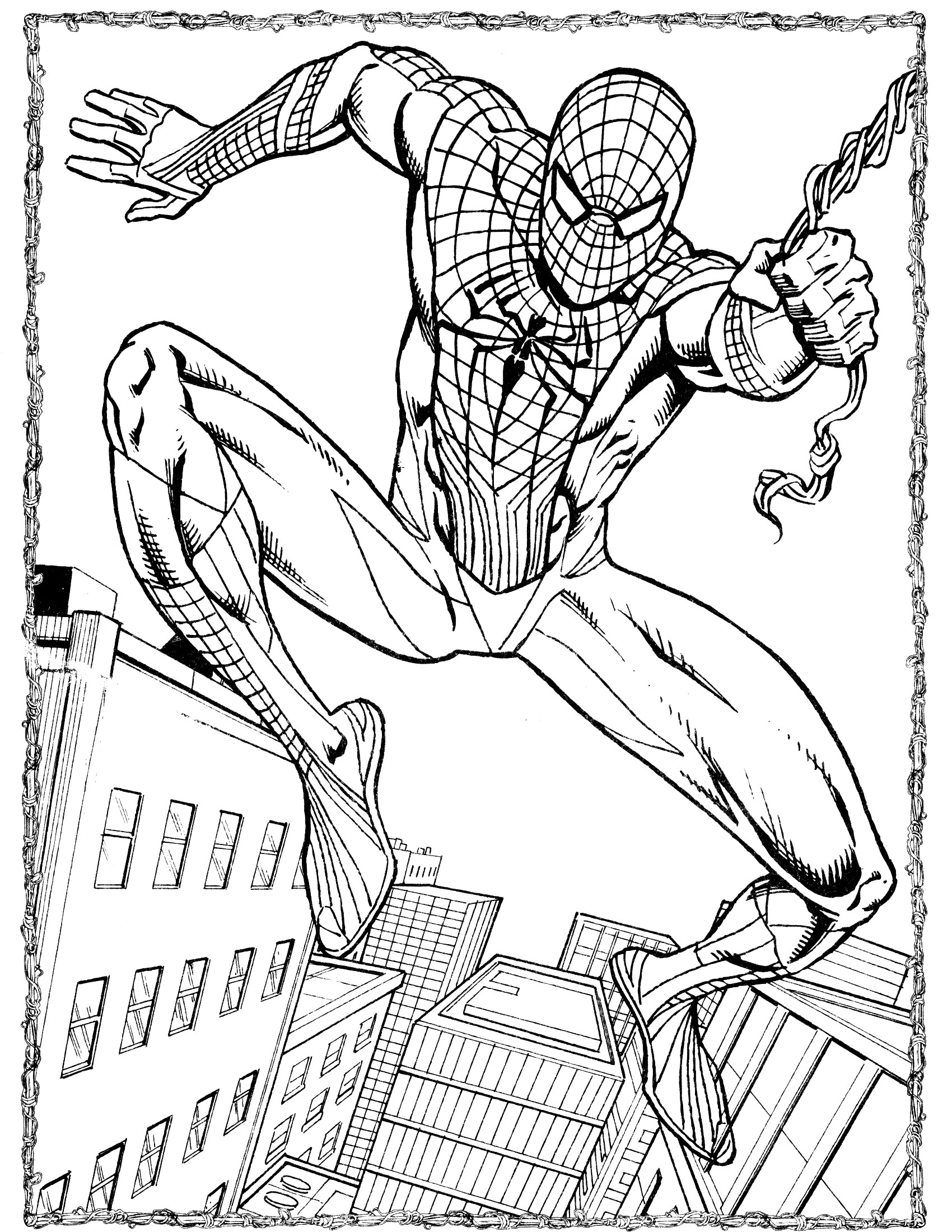 Spiderman Coloring Pages For Adults  Spider Man Coloring Pages coloringsuite