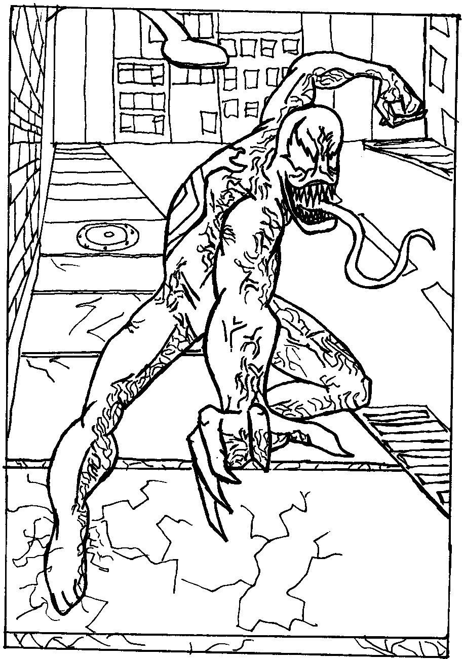 Spiderman Coloring Pages For Adults  Venom Vs Spiderman Coloring Pages Coloring Home