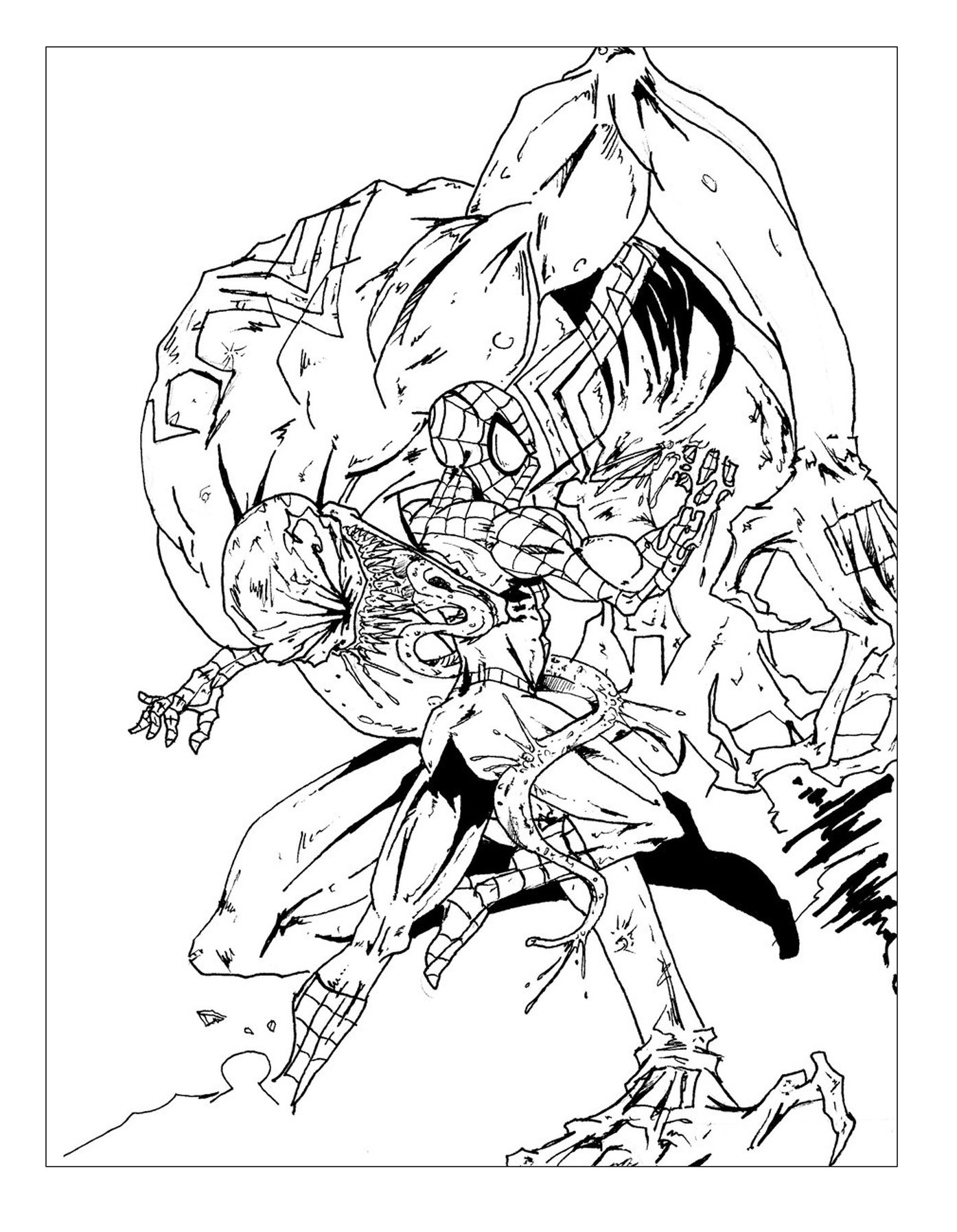 Spiderman Coloring Pages For Adults  Books and ics Coloring pages for adults coloring