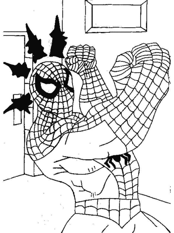 Spiderman Coloring Pages For Adults  8 best spider man images on Pinterest
