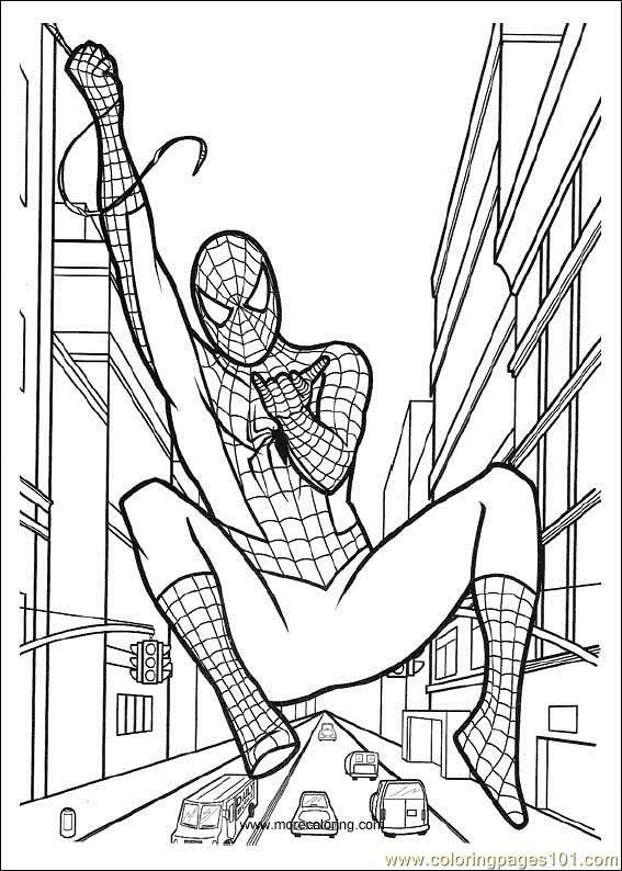 Spiderman Coloring Pages For Adults  Spiderman 06 printable coloring page for kids and adults
