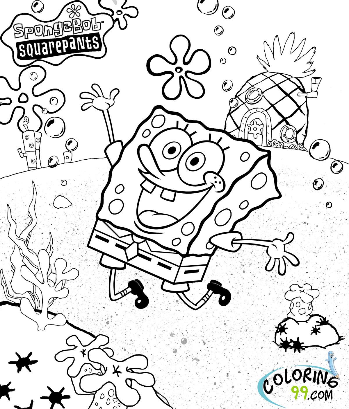 Spongebob Coloring Pages For Kids  Spongebob Squarepants Coloring Pages