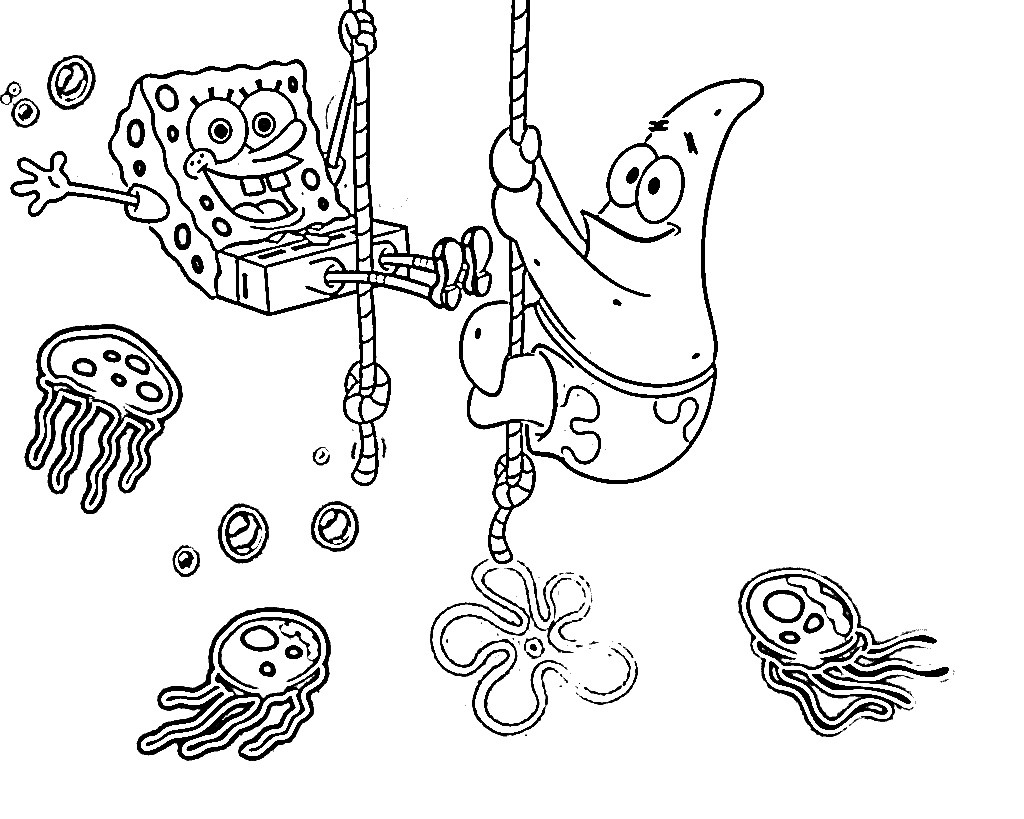 Spongebob Coloring Pages For Kids  Free Printable Spongebob Squarepants Coloring Pages For Kids