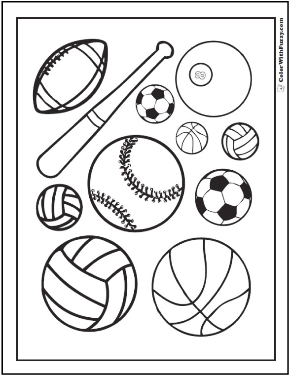 Sports Coloring Pages For Kids  121 Sports Coloring Sheets Customize And Print PDF