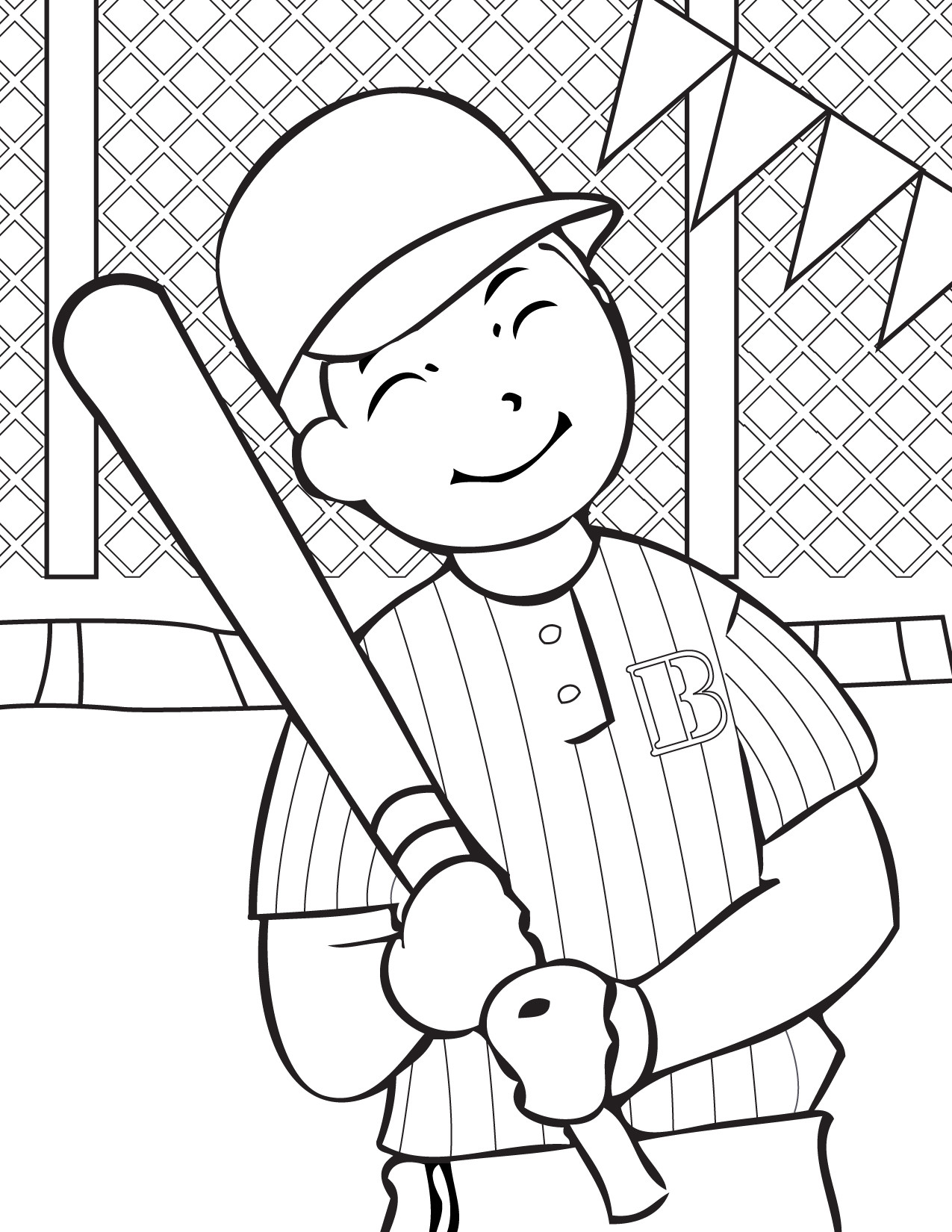 Sports Coloring Pages For Kids  Free Printable Baseball Coloring Pages for Kids Best