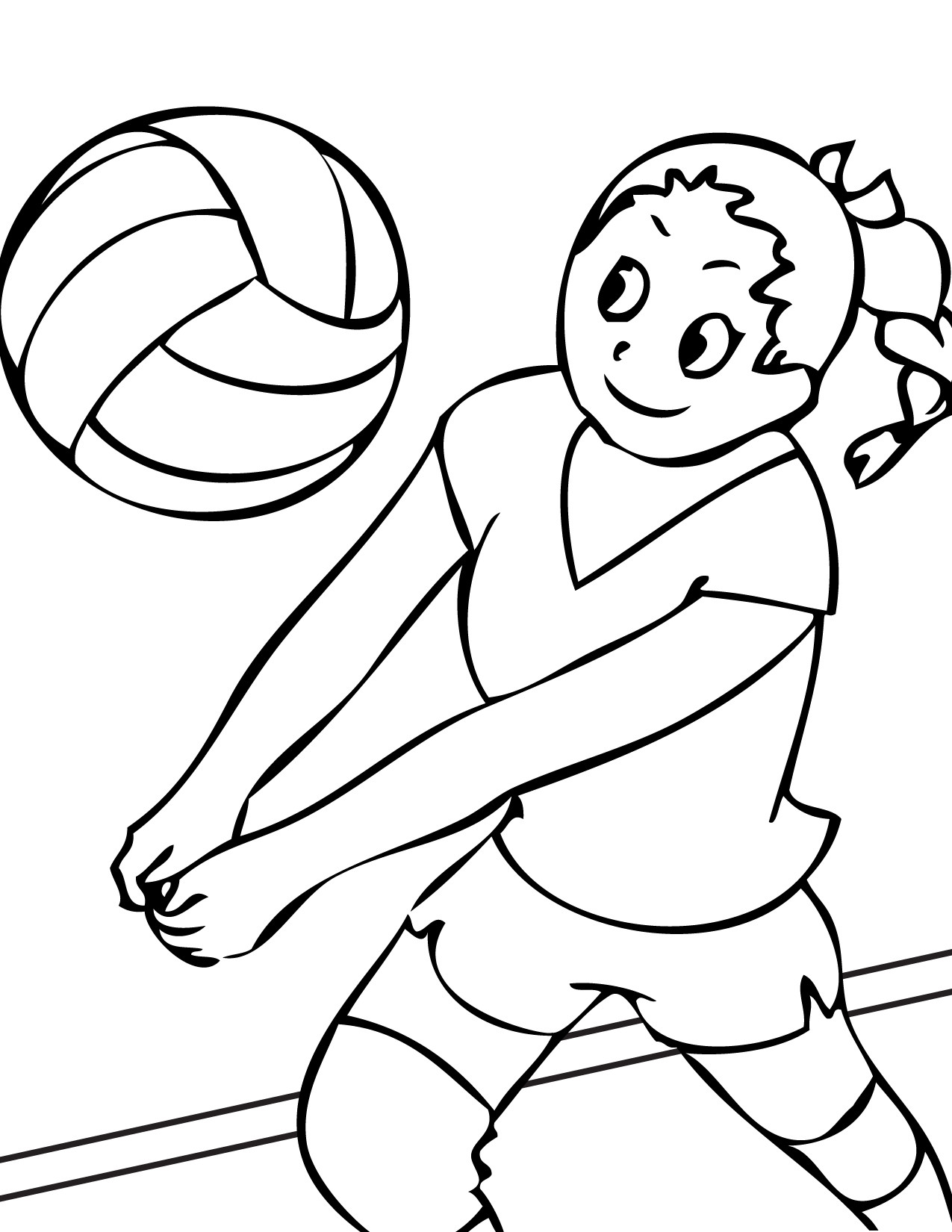Sports Coloring Pages For Kids  Free Printable Volleyball Coloring Pages For Kids
