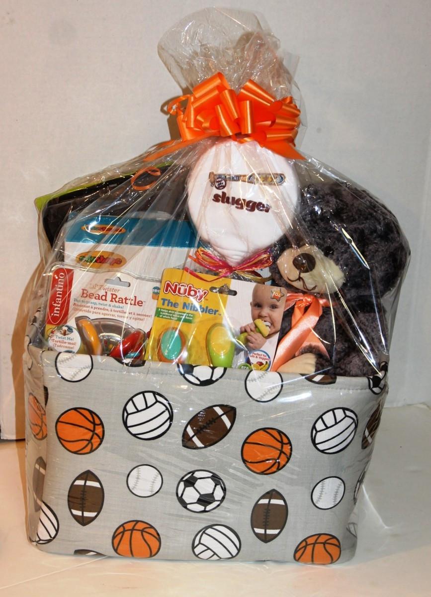 Sports Gift Ideas For Boys  Baby boy sports t basket Bravo Baskets