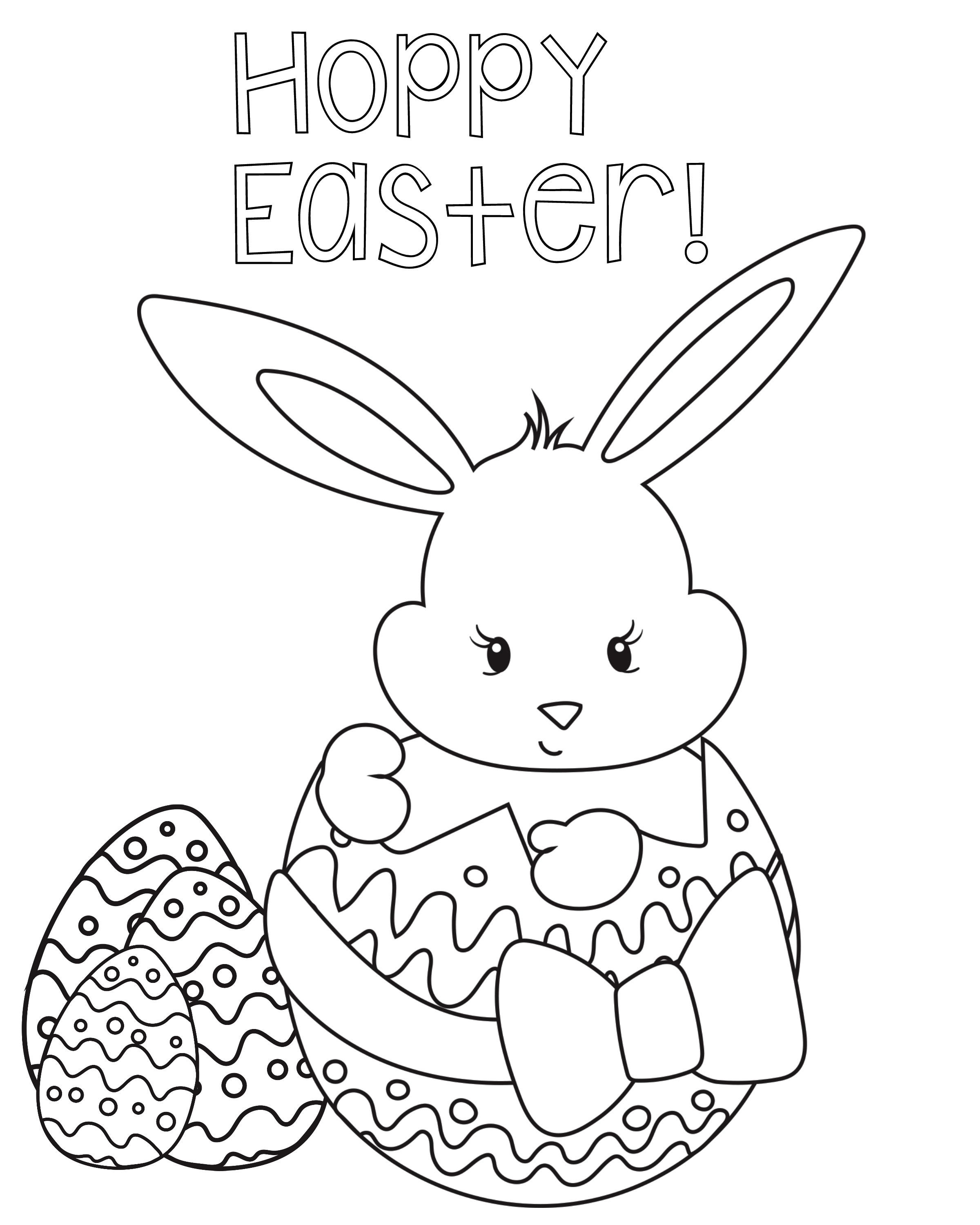 Spring Coloring Pages Free Printable  Happy Easter Coloring Pages Best Coloring Pages For Kids