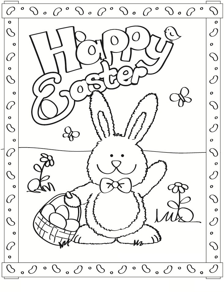 Spring Coloring Pages Free Printable  Free Printable Easter Bunny Coloring Pages For Kids