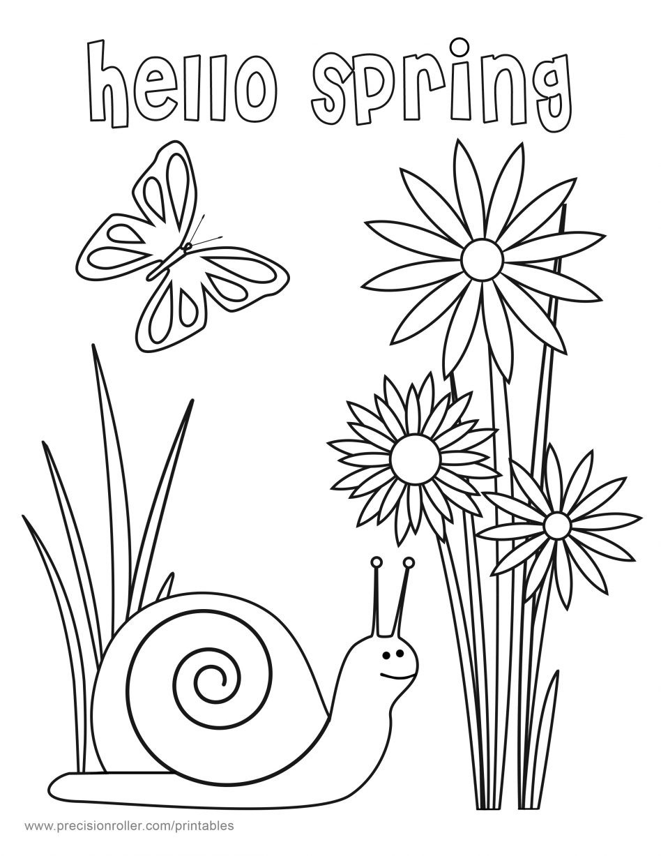 Spring Coloring Pages Free Printable  46 Springtime Coloring Pages Free Free Springtime