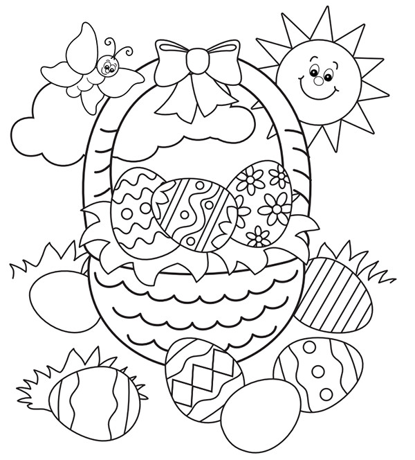 Spring Coloring Pages Free Printable  Free Easter Colouring Pages – The Organised Housewife