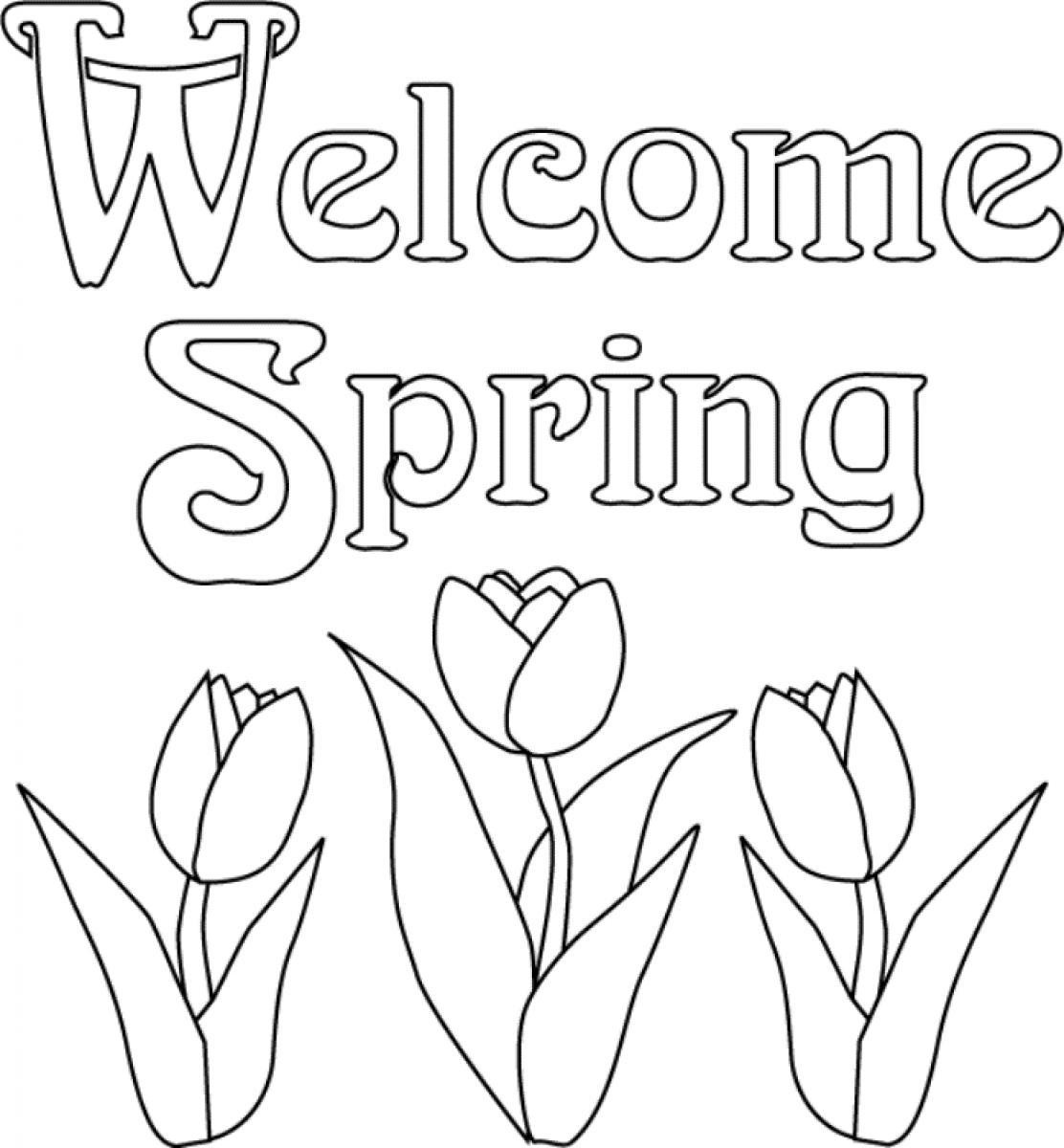Spring Coloring Pages Free Printable  spring coloring pages