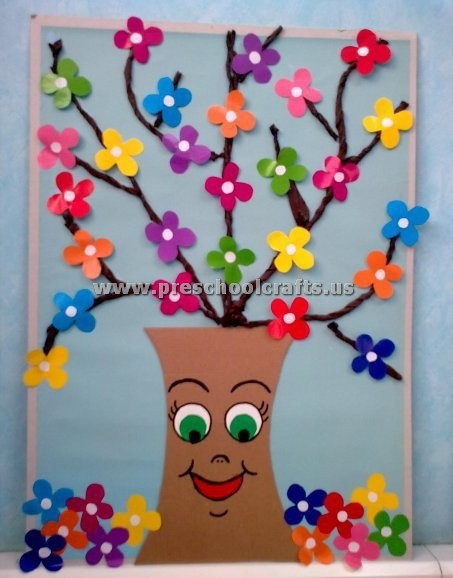 Spring Craft For Preschoolers  preschool spring crafts Preschool Crafts