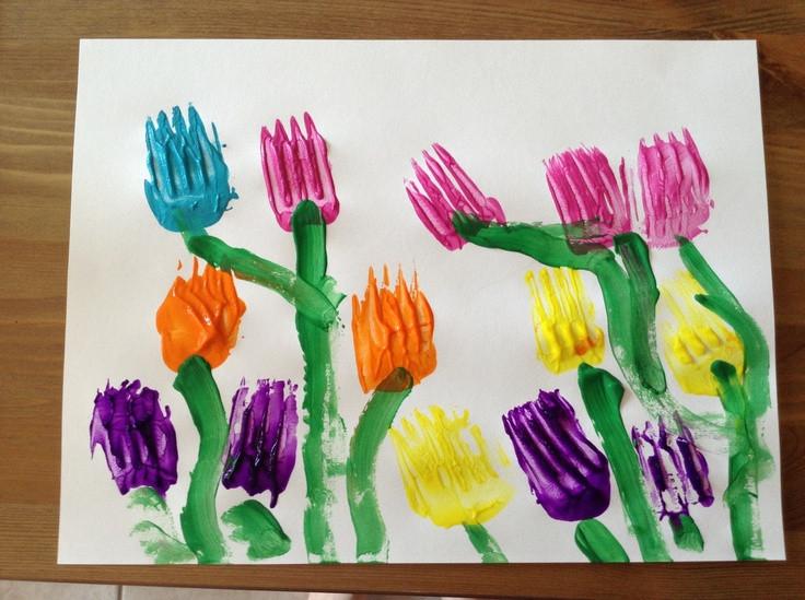 Spring Craft For Preschoolers  Forks Flower Craft Preschool Spring Kids Tierra Este
