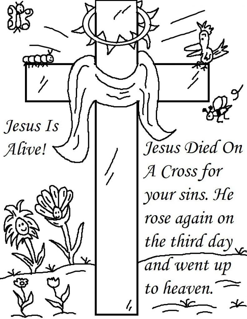 Spring Fling Coloring Sheets For Kids  Religious Easter Coloring Pages Best Coloring Pages For Kids