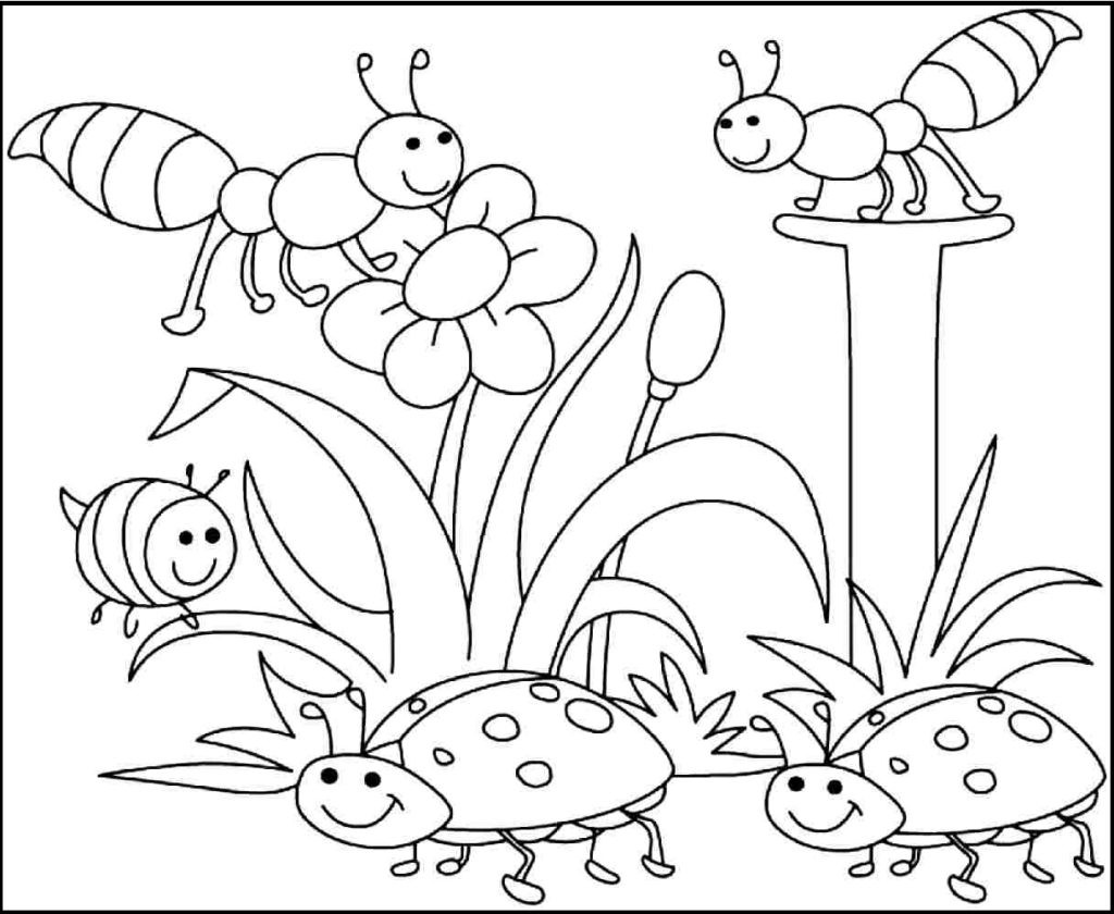 Spring Fling Coloring Sheets For Kids  Spring Coloring Pages Printable Inspirational Coloring