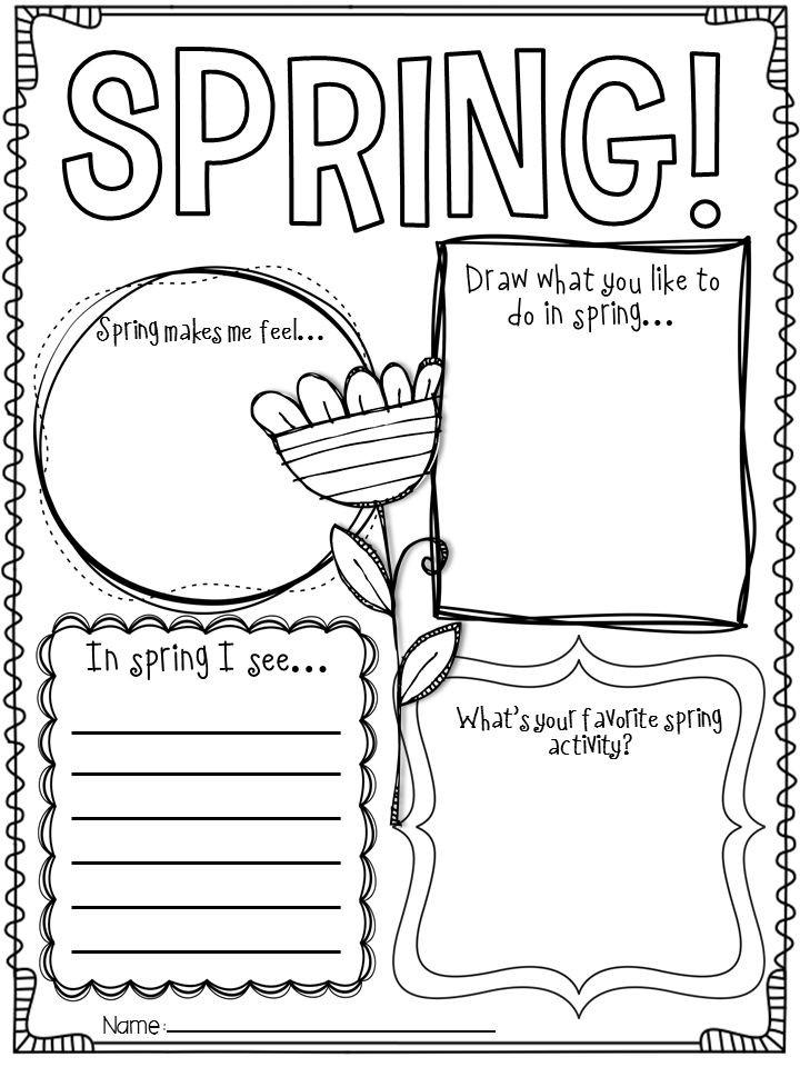 Spring Fling Coloring Sheets For Kids  Spring Worksheets For Kids – Color Bros