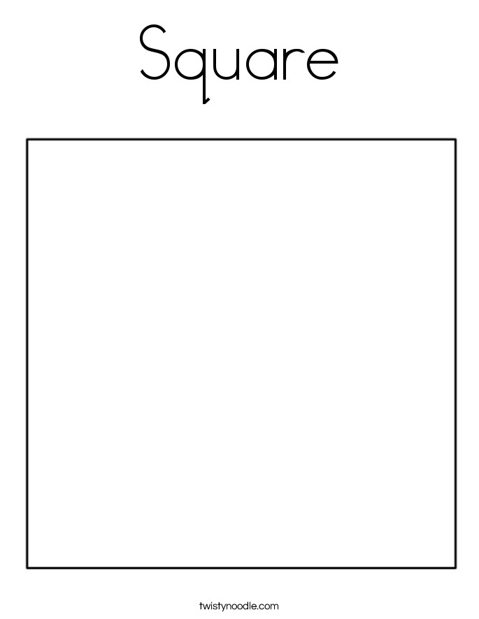 Square Coloring Pages  Square Coloring Page Twisty Noodle