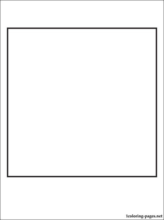 Square Coloring Pages  Square coloring page