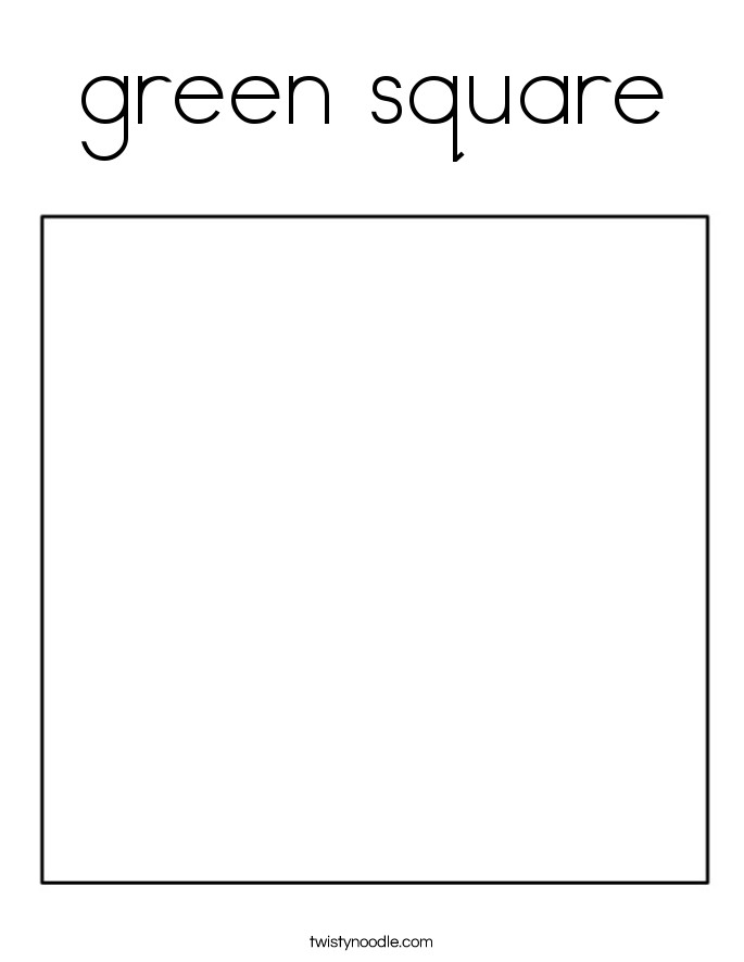 Square Coloring Pages  green square Coloring Page Twisty Noodle