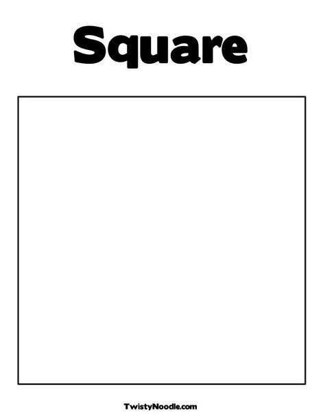Square Coloring Pages  Square Coloring Page from TwistyNoodle