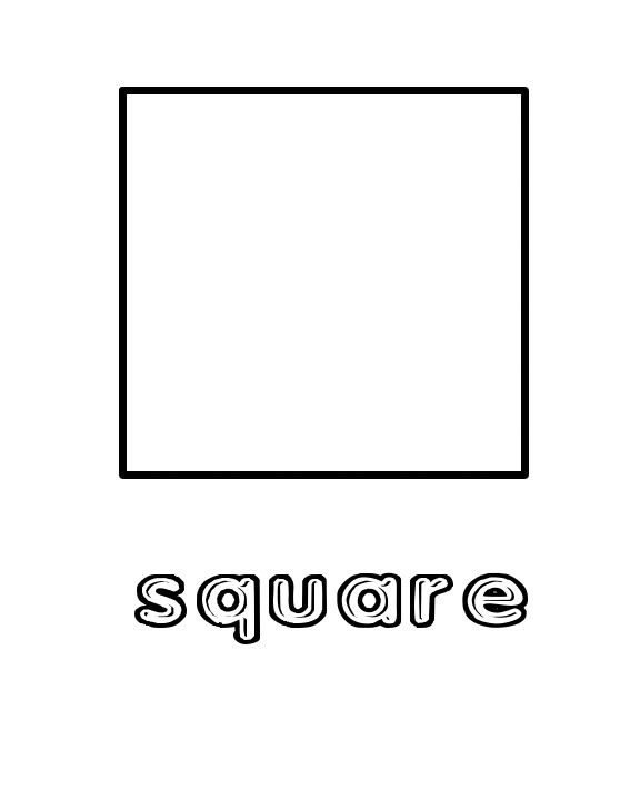 Square Coloring Pages  1000 images about Shapes on Pinterest